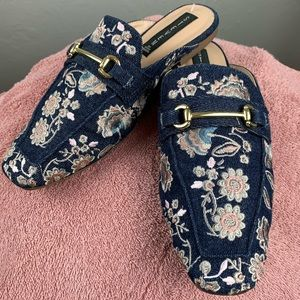 Steven by Steve Madden Embroidered Royce Mules 7.5